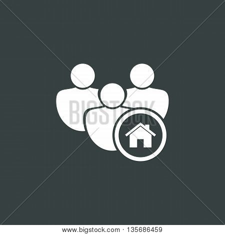 User Home Icon In Vector Format. Premium Quality User Home Symbol. Web Graphic User Home Sign On Dar