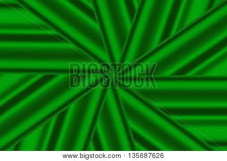 Illustration of a dark green and light green star pattern