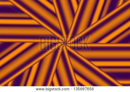Illustration of a purple and orange star pattern