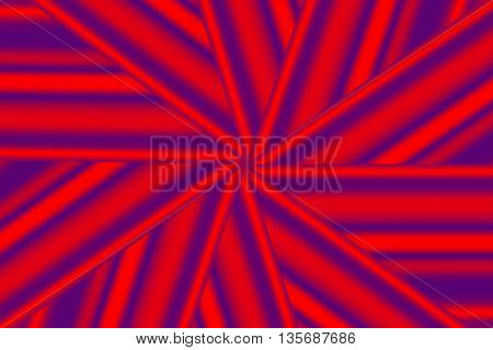 Illustration of a red and purple star pattern