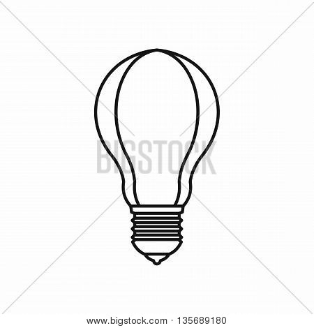 Light bulb icon in outline style isolated on white background