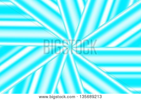 Illustration of a cyan and white star pattern