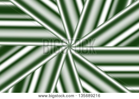 Illustration of a dark green and white star pattern