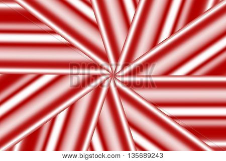 Illustration of a red and white star pattern