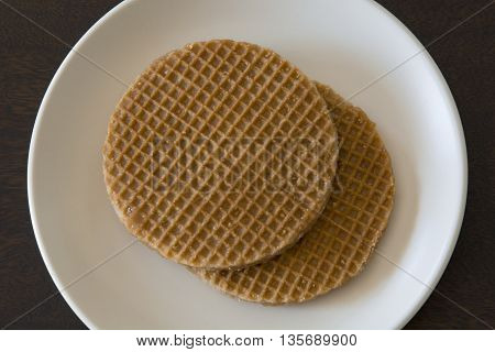 Pile of Caramel Stroopwafels (soft toasted dutch waffles)