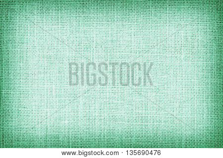 Natural Sackcloth Textured For Background, Green Colour