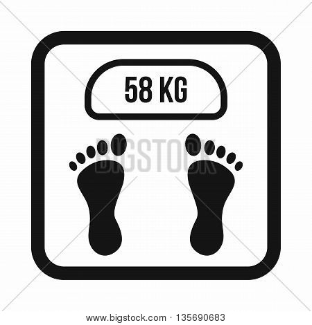 Weight scale icon in simple style isolated on white background