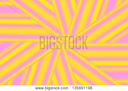 Illustration of a yellow and pink star pattern