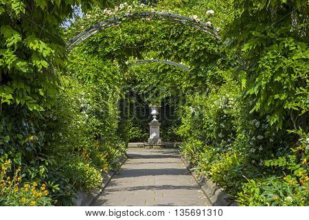 A view inside the beautiful St. Johns Lodge Gardens in Regents Park London.