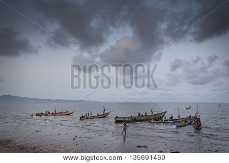 Sierra Leone, West Africa, The Beaches Of Yongoro