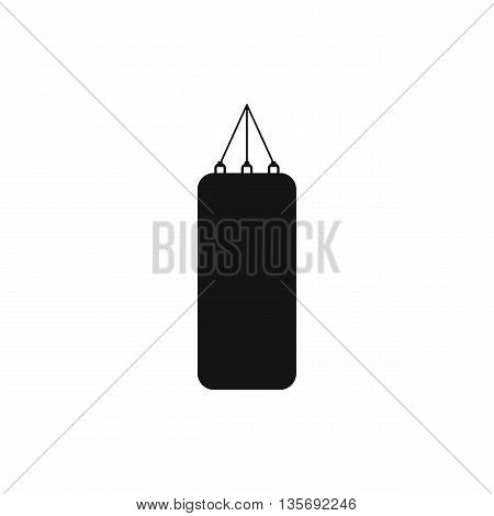 Punching bag for boxing icon in simple style isolated on white background