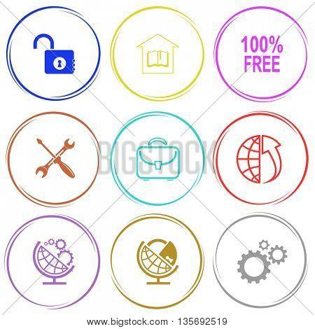 Business set. Internet button. Vector icons.