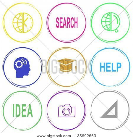 Education set. Internet button. Vector icons.
