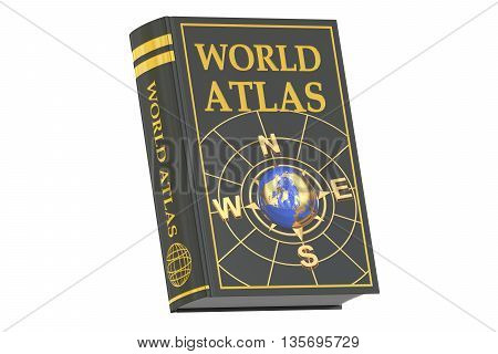 world atlas book concept 3D rendering isolated on white background