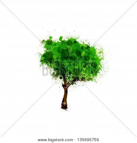 Tree vector logo design template easy all editable