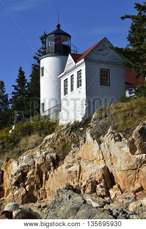 Lighthouse Acadia National Park, Bar Harbor Maine.