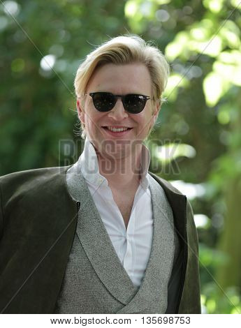 LONDON, UK , JUNE 15, 2015: Henry Conway attends the Burberry Prorsum fashion show picture taken from the street