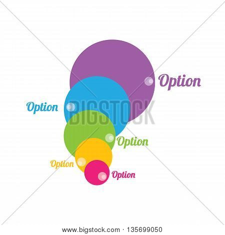 Vector infographic or web design template . vector sales funnel