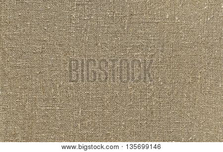 Natural sackcloth fabric texture for background linen canvas.