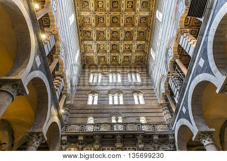 Interiors And Details Of Pisa Cathedral, Pisa, Italy