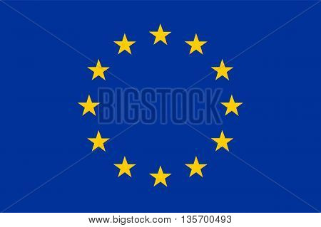 vector illustration of european flag original and simple in official colors and proportion correctly isolated background
