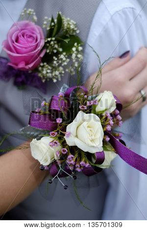 Hand with Corsage flowers