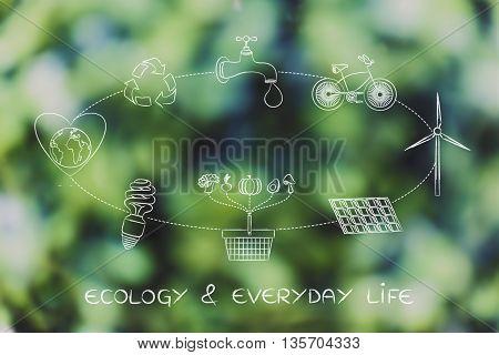 Sustainable Development Diagram, Ecology & Everyday Life
