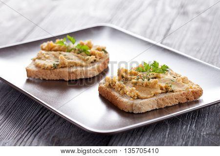 Toast With Hummus