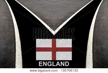 Concept Design Of England Flag By Color Painting On The Ground