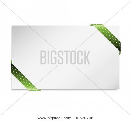 Business card in the green card holder (vector)