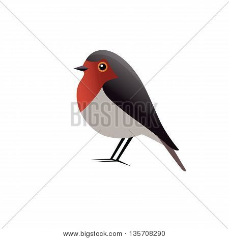 Red Robin Bird Mascot Cartoon Vector Logo