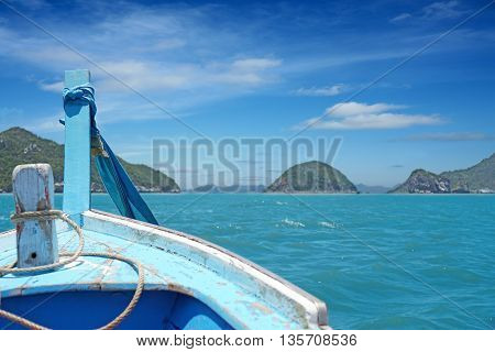 Boat Heading To Island In Hua Hin, Southern Thailand.