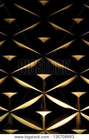 Architecture Abstract Wall Art For Background Use (golden Dark Tone)