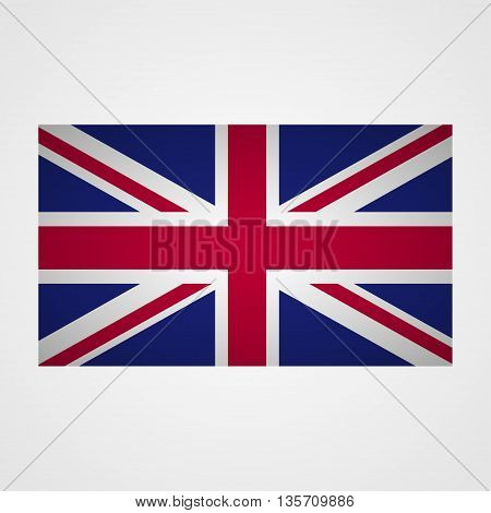 UK flag on a gray background. Vector illustration