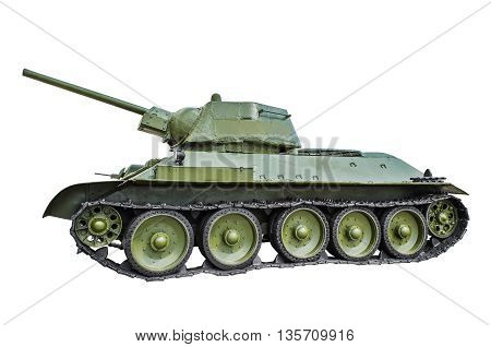 Soviet tank T-34/76. isolated on white background