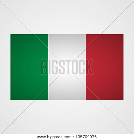 Italy flag on a gray background. Vector illustration