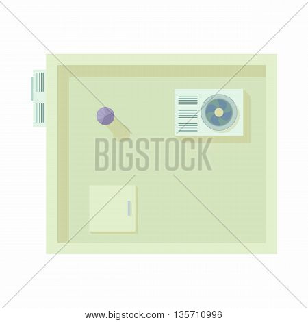 Modern building top view icon in cartoon style on a white background