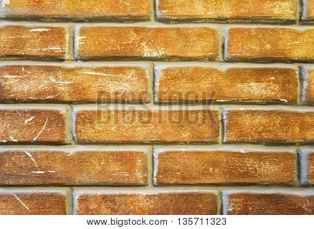 Background of old vintage brick wall. Part of the wall.
