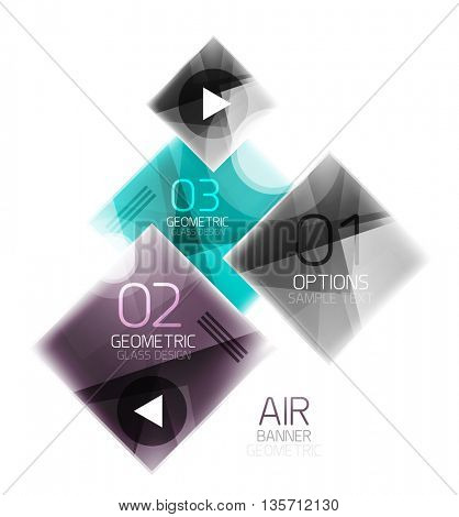 Colorful geometric squares with option. Infographic vector abstract background