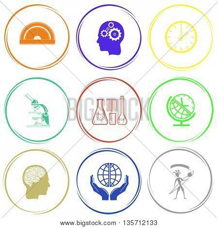 Education set. Internet button. Vector icons.