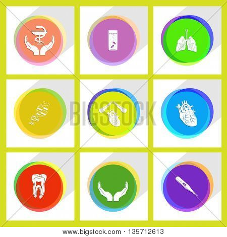 Medical set. Internet template. Vector icons.