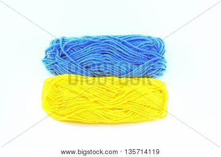 flag of wool in the colors of ukraine