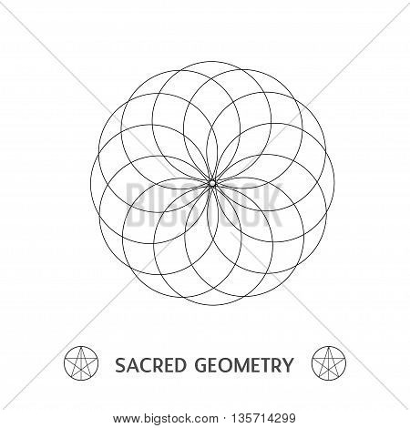 Sacred Geometry Flower Of Life Symbol