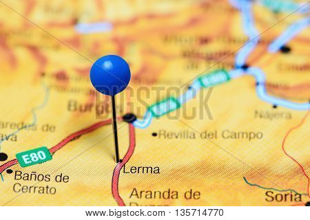 Lerma pinned on a map of Spain