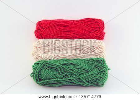 flag of wool in the colors of hungary