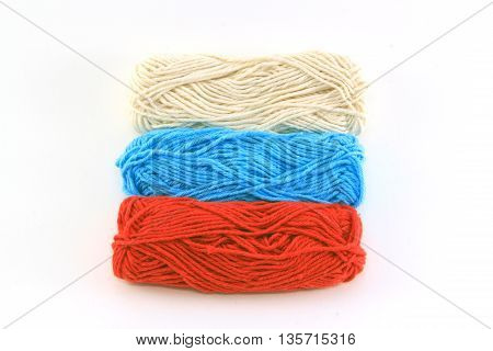 flag of wool in the colors of russia