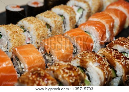 Various Delicious Types Of Sushi Rolls