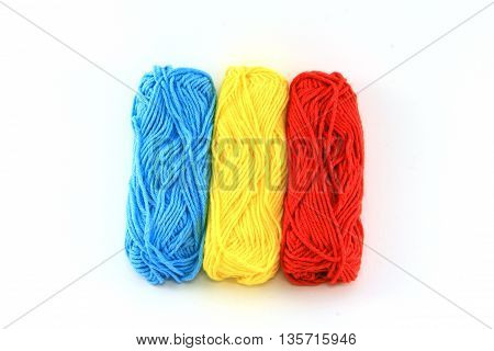 flag of wool in the colors of romania