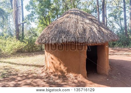 Typical huts of the ethnic groups and tribes in Kenya Africa