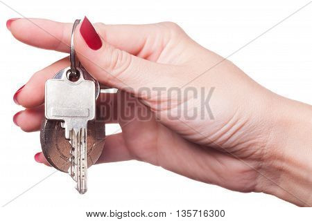 Close Up Of Fingers Curled Around Car Keys